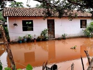 Ilha Grande registra maior volume de chuvas do Piauí e 10 famílias ficam desabrigadas.