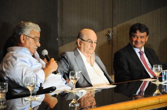 Caú, José Elias Tajra e Wellington Dias (Foto:Marcelo Cardoso)