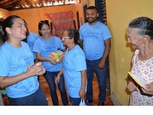 Comunidades da Água Mineral e Memorare recebem visita da Patrulha Digital.