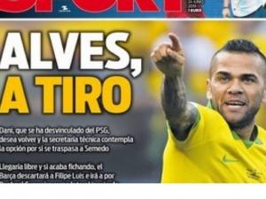 'Daniel Alves quer voltar ao Barcelona', diz jornal espanhol.