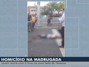 Jovem é assassinado com cinco tiros na Zona Leste de Teresina.