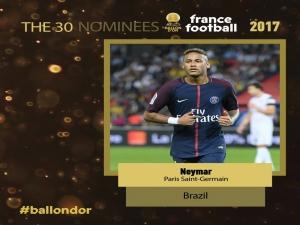 Bola de Ouro: Neymar, Coutinho e Marcelo estão entre os 30 finalistas.