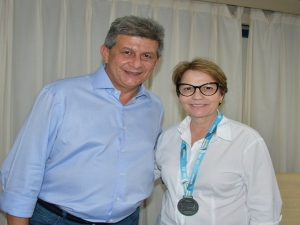 Zé Filho recepciona ministra da Agricultura na FIEPI.
