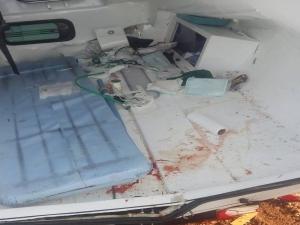 Ambulância que transportava pacientes capota na rodovia BR-135, no Sul do Piauí.